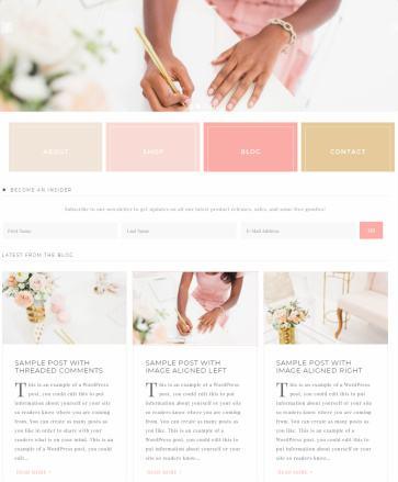 Homepage Widgets - Darling Theme