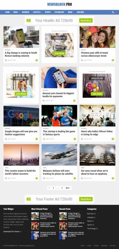 NewsBlock Review - HappyThemes Blog Theme | REALITY