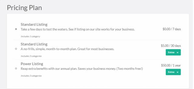 Pricing Plans - Vantage AppThemes