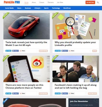 PureLife Responsive WordPress Blog Theme – HappyThemes