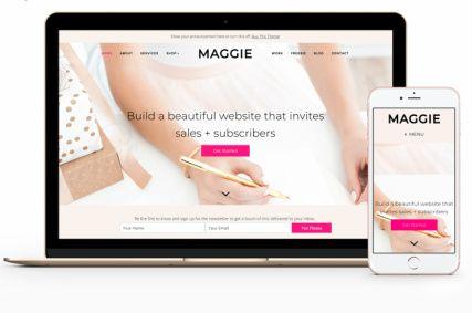 Responsive Feminine Business Template - Maggie