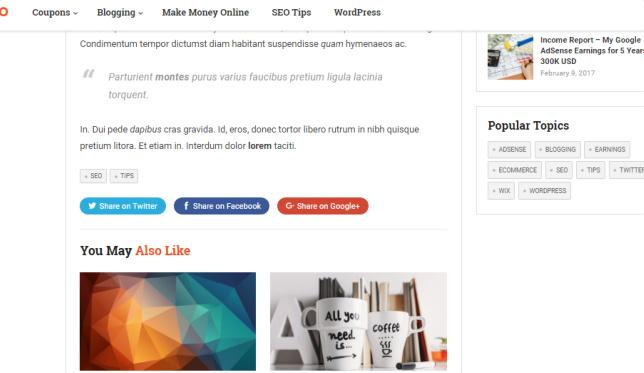 Social Sharing and Related Posts - MakeMoney Theme