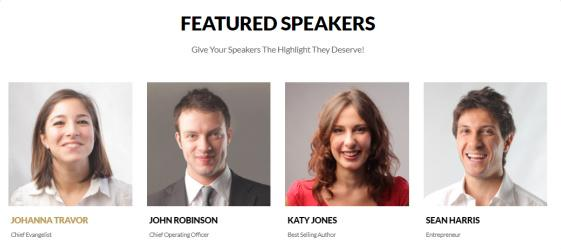 Speakers List - Vertoh Event Theme