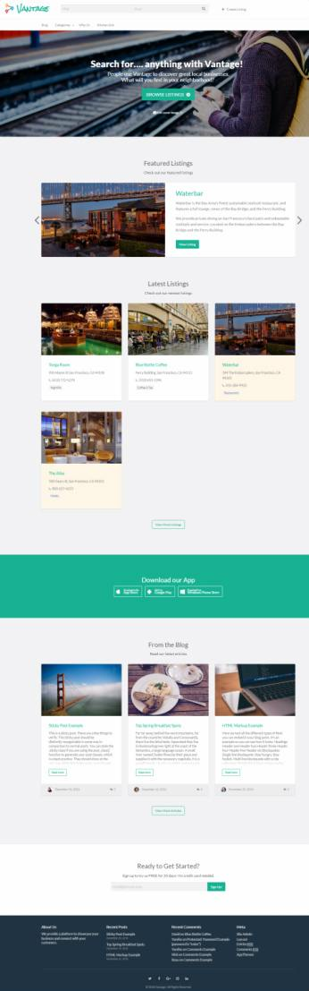 AppThemes Vantage : Business Directory WordPress Theme