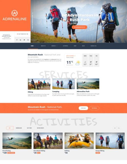 Adrenaline ThemeIsle – Travel and Sports WordPress Theme