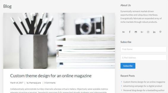 Blog Page - Kreativ Theme
