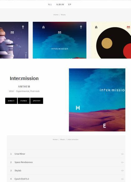 Discography Album - Merchato AudioTheme