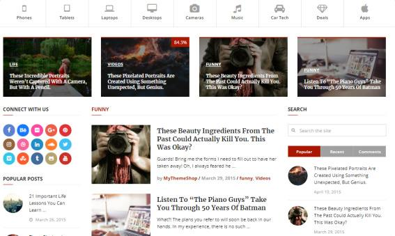 Featured Categories Posts - Interactive Frontpage