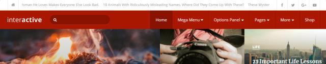 Header Menu and News Ticker - Interactive