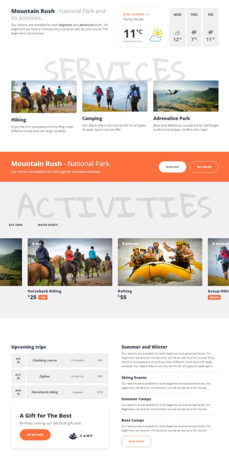 Homepage - Adrenaline Travel Theme