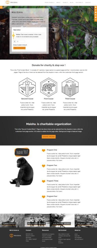 Maisha ThemeIsle - WordPress NGO Non Profit Organization Theme