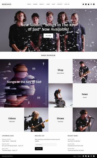 AudioTheme Merchato : Responsive Music Band WordPress Theme