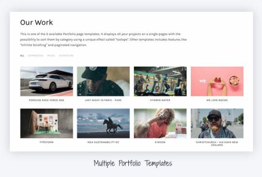 Portfolio Templates - Reel Theme