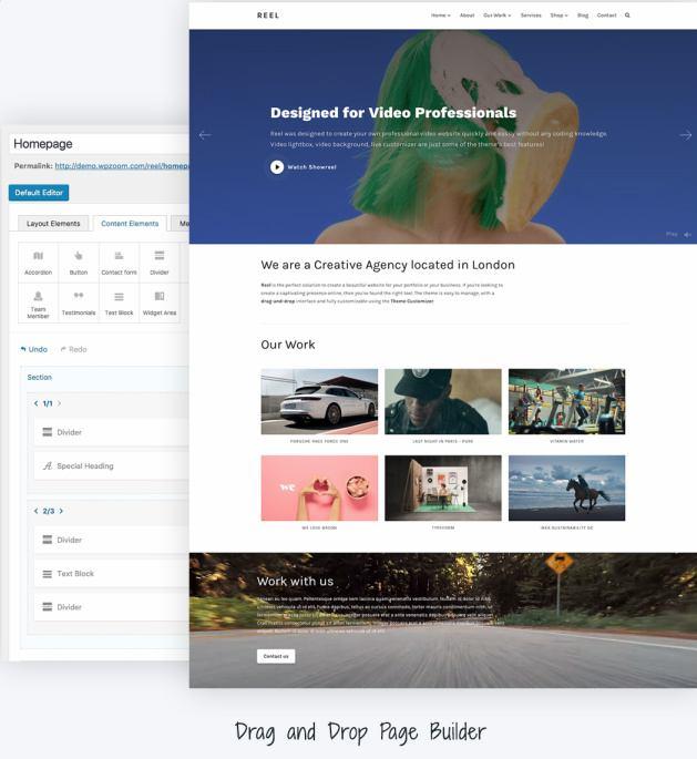 Reel Page Builder - Homepage
