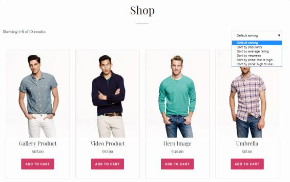 Shop Page - Elite eCommerce WP Theme