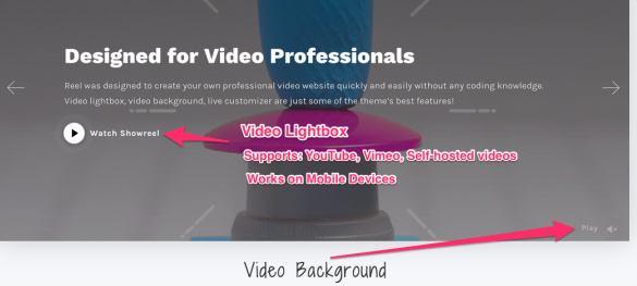Slider Light Box Video Background - Reel