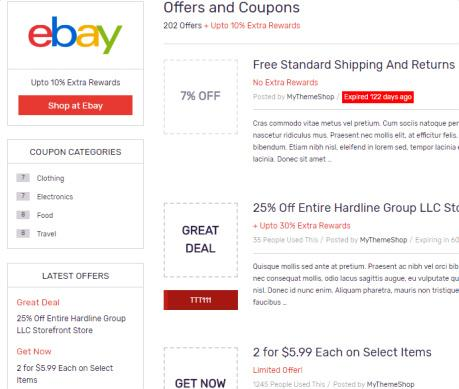 Coupon Archieve Page - Coupon WP Theme