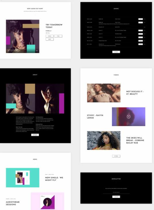 Front Page Sections - Popbelly Theme