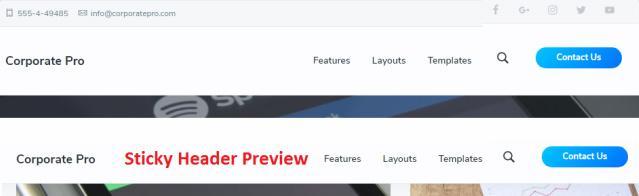 Header Sticky Navigation - Corporate Pro SEO themes