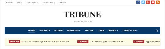 Header - Tribune Magazine Theme