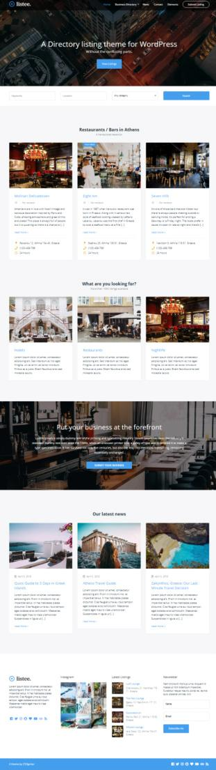 Listee - Business Directory WordPress Theme by CSSIgniter