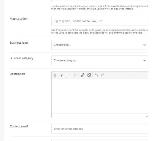 Listing form - Listee