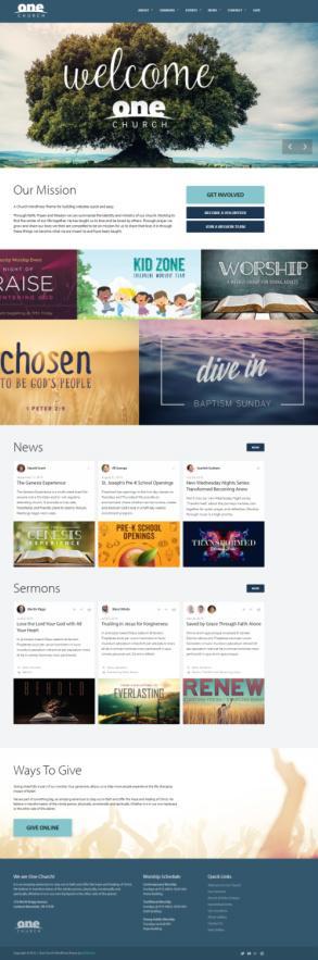 One Church WordPress Theme Demo : UpThemes