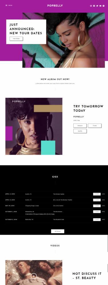 Popbelly Demo - AudioTheme Music WordPress Theme