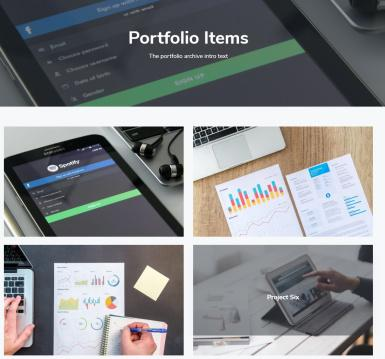 Portfolio Project Listing Grid Page - Corporate Pro