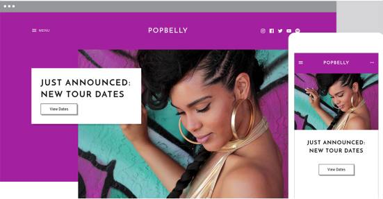 Responsive Music Band Theme - Popbelly