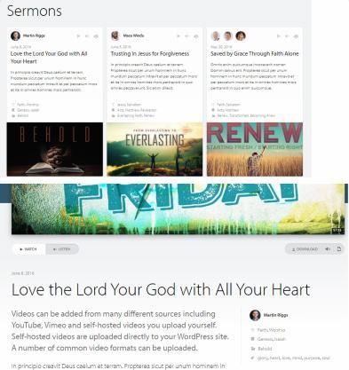 Sermons Listing - One Church Theme