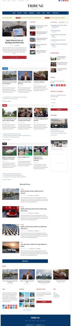Tribune News Magazine Theme – WPZOOM