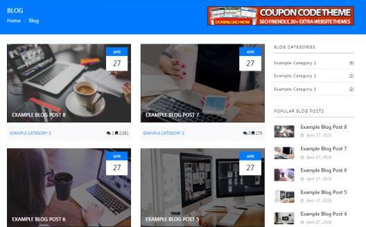 Blog Page With Sidebar Widgets - Coupon PremiumPress