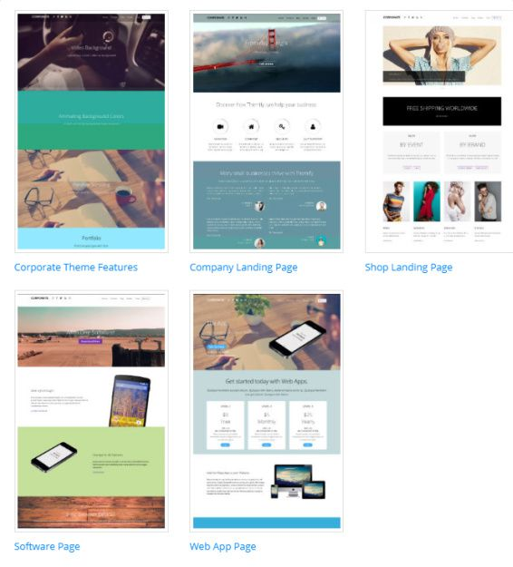 Corporate Multiple Homepage Layouts - Themify