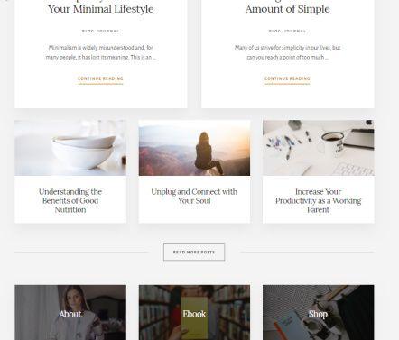 Essence Pro Homepage - Widget Area