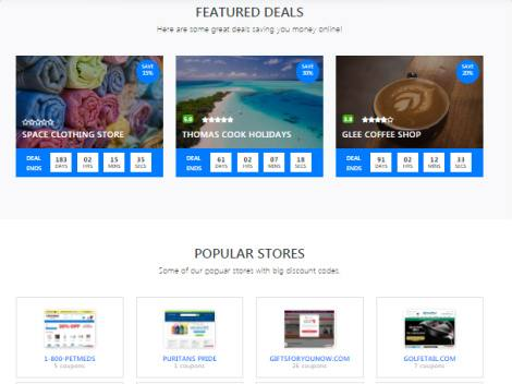 Frontpage Coupon Featured Section - Coupon Code Theme