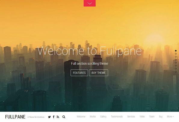 Themify Fullpane Demo : Full Section Scrolling WordPress Theme