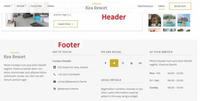 Kea Header Floating Menu - Footer Widgets