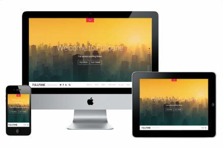 Responsive Portfolio Business Theme - Fullpane