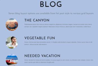 Blog Template - Flat WP Theme Themify