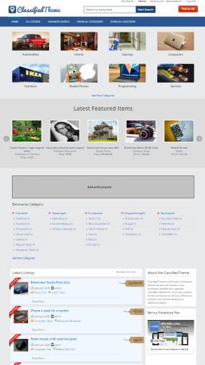 Responsive Classified Ads WordPress Theme : SiteMile