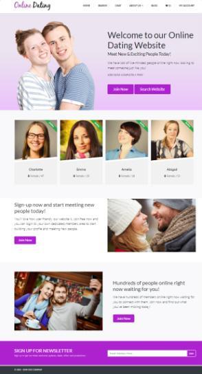 Wordpress dating site demo