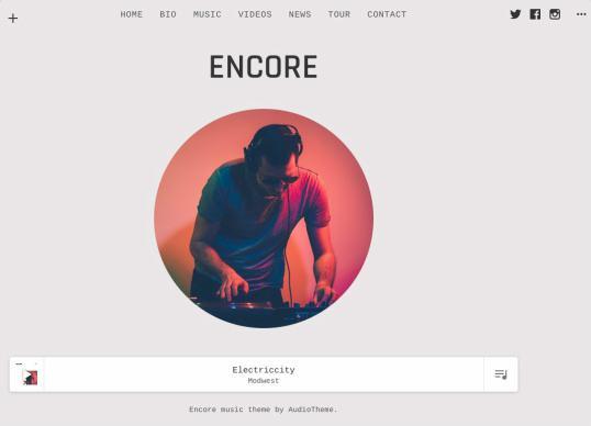 Encore AudioTheme : Responsive Music WordPress Theme