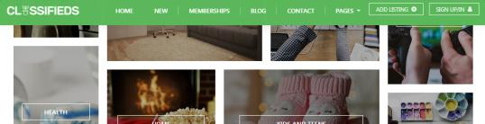 Fixed Header - Classifieds Theme