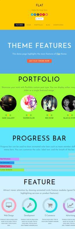 Flat Design WordPress Theme - Themify