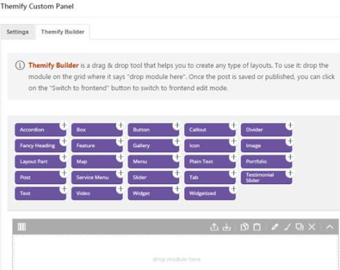 Flat Themify Page Builder
