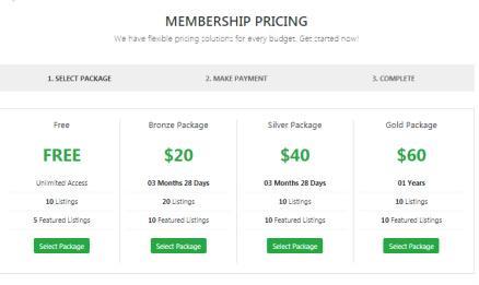 Membership Page - Real Estate Theme