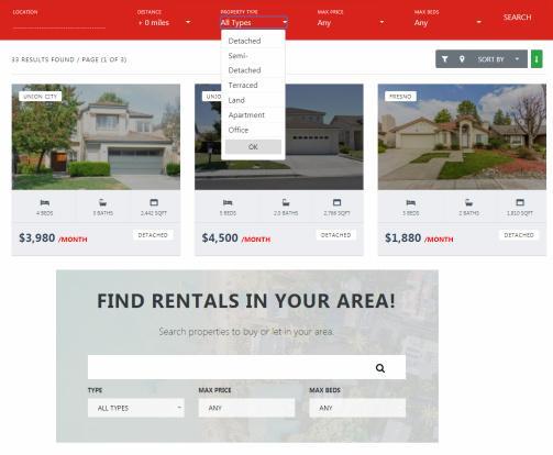 Real Estate Search Options - PremiumPress