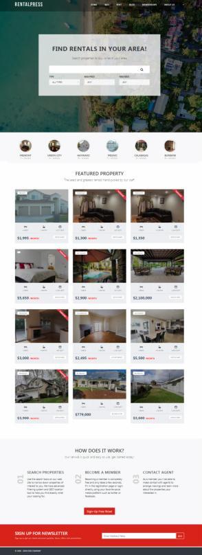 PremiumPress : Real Estate WordPress Rentals Theme