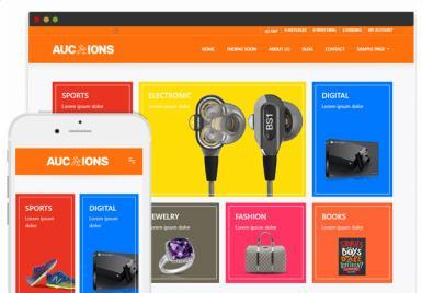 Responsive Auction Theme - Auction Theme PremiumPress